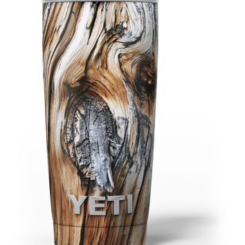 Raw Aged Knobby Wood Yeti Rambler Skin Kit