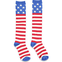 American Flag Knee-High Socks