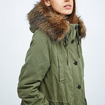 Parka London Freja Classic Parka in Green - Urban Outfitters