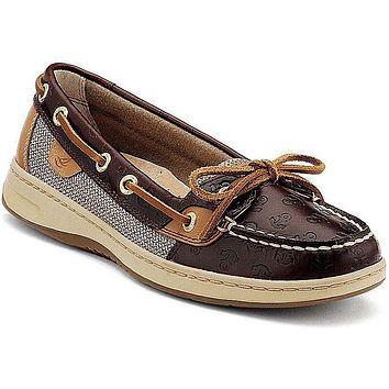 Women's Angelfish Boat Shoe with Embossed Anchors by Sperry