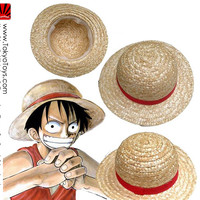 "One Piece: ""Cosplay - Luffy Natural Straw Hat 2013 VER"" : TokyoToys.com: UK Based e-store, Anime Toys Retail & Wholesale, Manga Action Figures,  Hentai Statues, Japanese Snacks, Pocky, DVDs, Gashapon,  Cosplay, Monkey Shirt, Final Fantasy, Bleach, Naruto,"