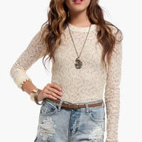 Lace Tat Top $16