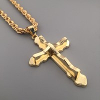 New Arrival Jewelry Shiny Stylish Gift Hot Sale Cross Rack Hip-hop Club Necklace [6542720067]