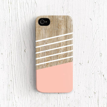 Geometric iPhone 5 case, geometric iPhone 5 case, iPhone 4s case, WOOD PRINT, wood iphone 4 case wood iphone 5 case pink summer  /c185