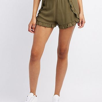Ruffle-Trim Tulip Shorts