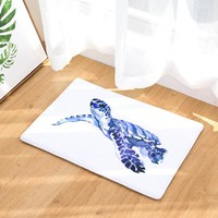 Cartoon Flannel Carpet  Turtle Theme Printing Mat For Living Room 40x60cm 50X80cm  Door mat Rectangle Tapete