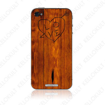 iPhone 4 Skin Etch on Wood