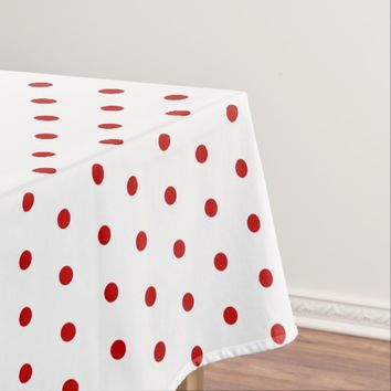 Polka dot pattern classic retro style tablecloth