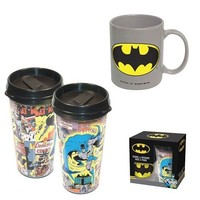 ICUP DC Comics Batman 2-Pack Travel and Ceramic Mug