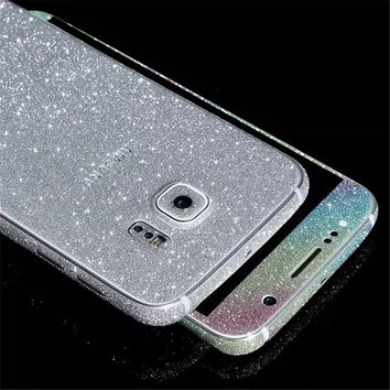 Full Body Glitter Back Film For iPhone Samsung Galaxy S4 S5 S6 S7 Edge Plus Note 5 4 3 J5 G530 5 5s 6 6S 7 Plus Phone Case Cover
