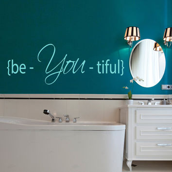 Beautiful Wall Decal Vinyl Stikers Art Murals Home Bedroom Living Room Decals For Bathroom Girl Spa Decor Beauty Salon Interior Design KY32
