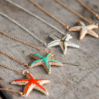 Clearwater Single Starfish Charm Necklaces