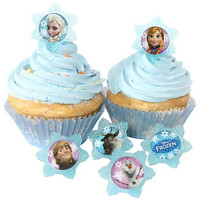 Frozen Ring Cupcake/Dessert Toppers