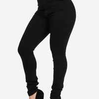 Extremely High Waisted Black Skinny Jeans