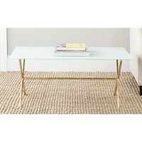 Safavieh Treasures Brogen Gold/ White Top Accent Table | Overstock.com Shopping - The Best Deals on Coffee, Sofa & End Tables