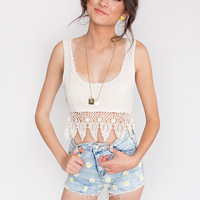 Tumble Knit Crop Top