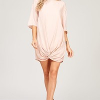 Trendy Pink Knot Party Dress