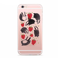 Badgers in a Strawberry Patch Case for iPhone Fun