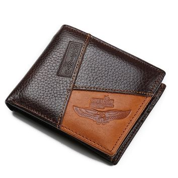 Men's Leather Wallet with Coin Pocket