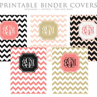 INSTANT DOWNLOAD  Printable Binder Covers  by ThePreppyGreek