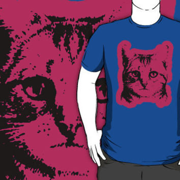 cat with pink outline shirt