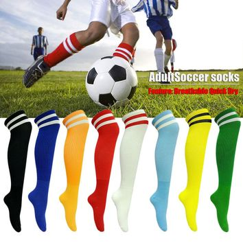 1 Pair Male Sports Tights Women Socks Soccer Basketball Running Football Knee Green Socks