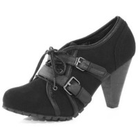 Black lace up buckle shoe boot - Shoes Sale  - Shoes  Boots  - Dorothy Perkins