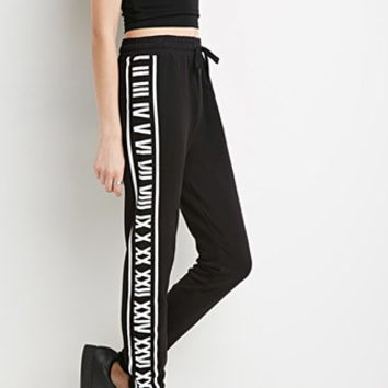 Roman Numeral Graphic Sweatpants