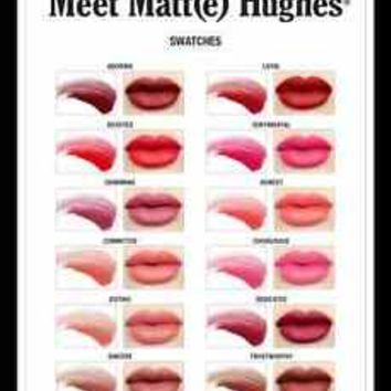 theBalm MEET MATT(E) HUGHES LONG LASTING LIQUID LIPSTICK CHOOSE COLOR