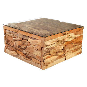 Erosion Coffee Table Teak Wood