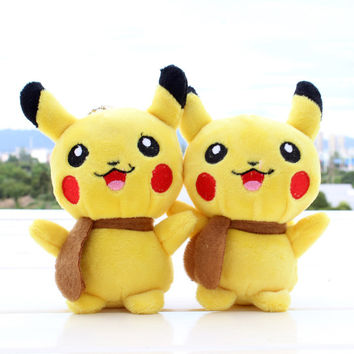 Super Hot Sale Pokemon Kaarten 13cm Pokemon Kawaii Gift Plush Toys Yellow Pikachu Doll Cat Stuffed Plush Doll Cat Plush Toy Doll