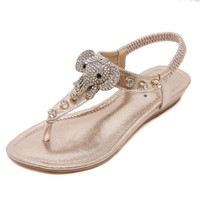 Crystal Decorated Sandals