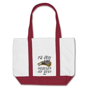 Resting My Eyes Baby Design by Kat Worth Tote Bag