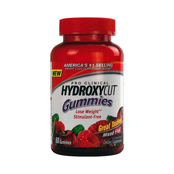 Hydroxycut Pro Clinical Weight Loss Gummies Mixed Fruit (60 Count)