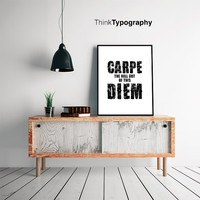 Carpe Diem print carpe diem poster carpe diem sign adult mature poster for women men college office home decor office decoration dorm room