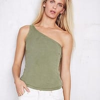 We The Free Womens We The Free One Shoulder Rib Tank