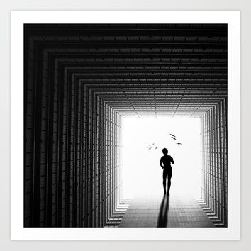 Black and White Art Print by kobi borisi