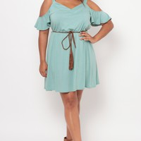 Plus Size Roxy Dress - Sage