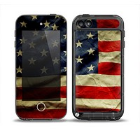 The Dark Wrinkled American Flag Skin for the iPod Touch 5th Generation frē LifeProof Case