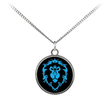 """World of Warcraft """"For the Alliance"""" Standard Coin Necklace"""
