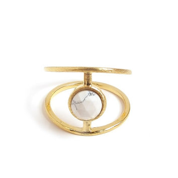 Sigma Marble Ring (Gold)