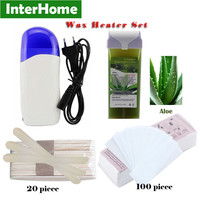 Wax Heater Set Hair Removal 40W Epilator 110V/220-240V Shaving Machines * 1 + Wax * 1 + Depilation Paper * 100 + Wood * 20 CE