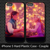 Rapunzel Tangled iPhone 5 4/4S 3G Couple Case Hard Plastic 0006