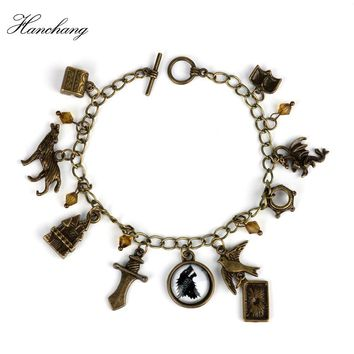 Game of Thrones Bracelet Song of ice fire Stark Charm Bracelets Bangle Cosplay Jewelry Men Women