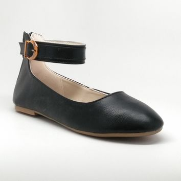 Women's Flats with Ankle Strap