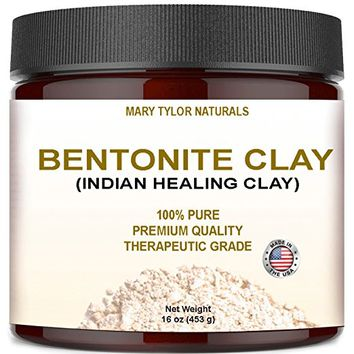 Bentonite Clay Large 16 oz Jar, Indian Healing Clay Powder By Mary Tylor Naturals tural Healing...