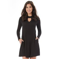 Juniors' IZ Byer Choker Neck Sweater Dress | null