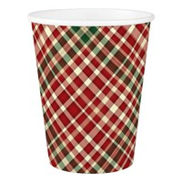 Christmas Plaid 11-PAPER CUPS