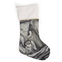 "Abstract Anarchy Design ""Inner Chaos "" Black Abstract Christmas Stocking"
