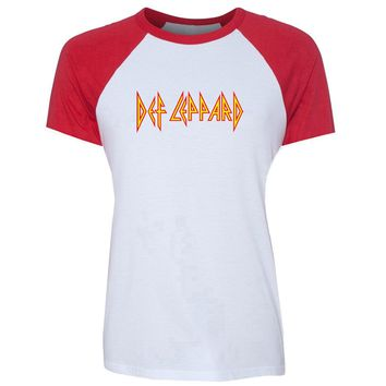 Ladies Def Leppard Hard Rock Band Tee Shirt